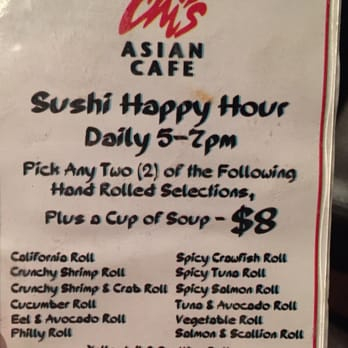 Sushi Cafe Happy Hour Menu Little Rock