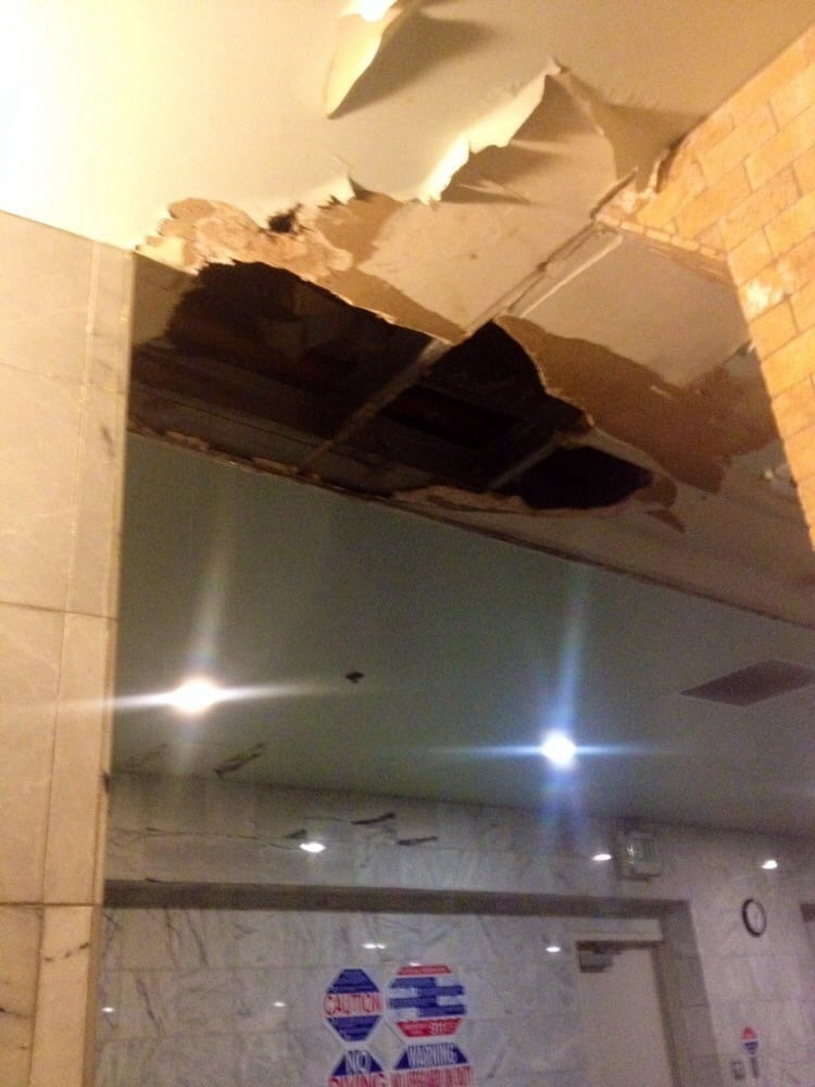 Gaping Holes On Roof At Downstairs Spa That Leaked Yelp