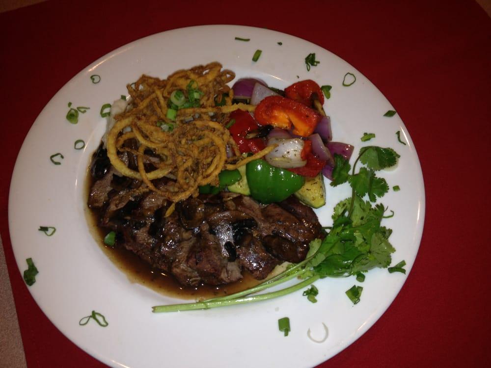 Flat Iron Steak with a burgundy mushroom sauce - Yelp