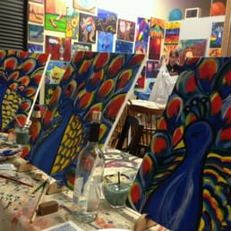 Peacock painting class yelp for Painting class chicago