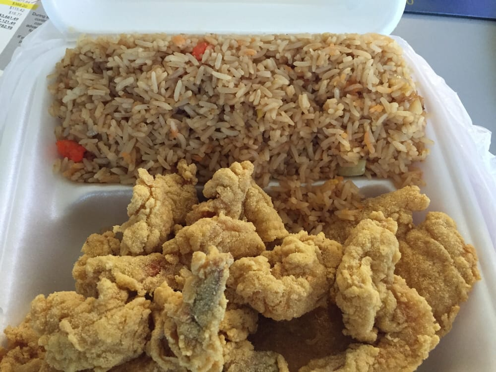 Fish shrimp plate with shrimp fried rice yelp for Fish and shrimp near me