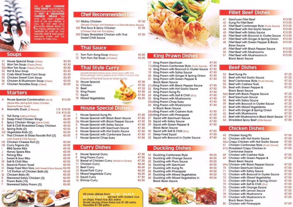 Chinese Food Menu Near Me That Deliver