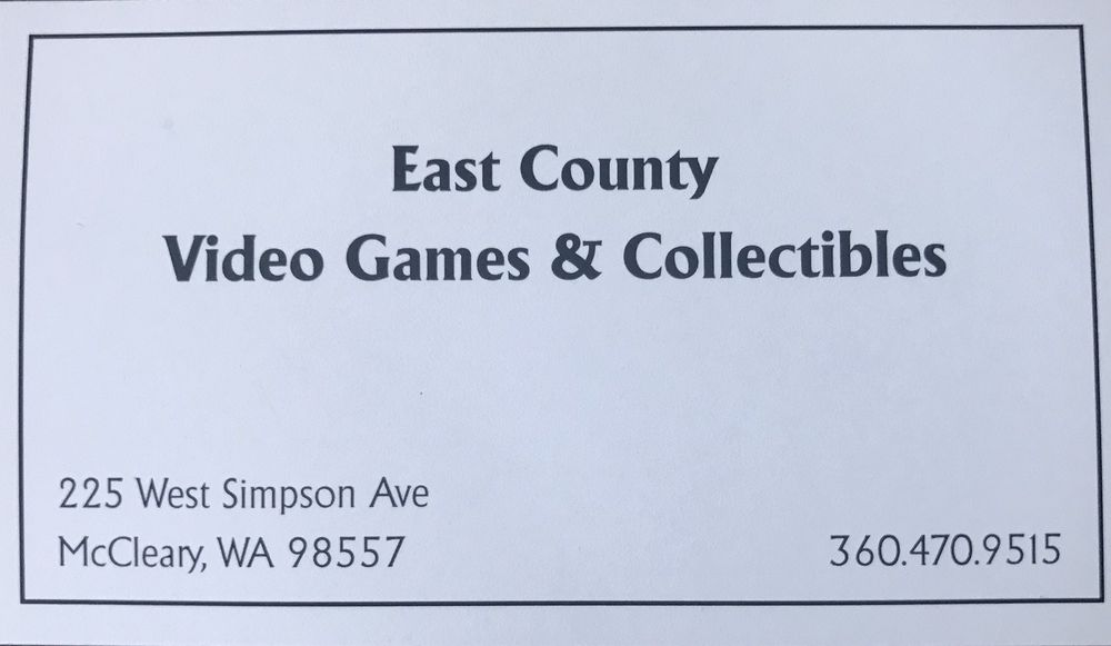 East County Video Games: 225 W Simpson Ave, McCleary, WA