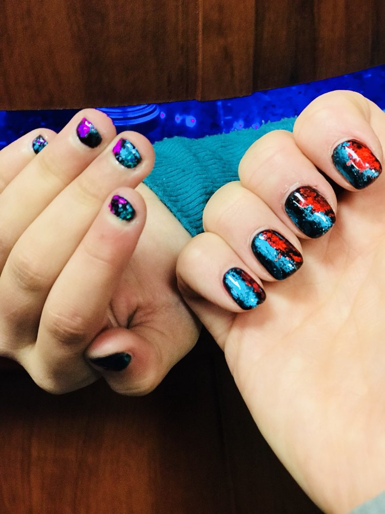 Thank you Mary for our gorgeous mom & daughter foil nails - Yelp
