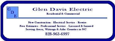Glen Davis Electric Co: 8742 Nc Hwy 105 S, Boone, NC