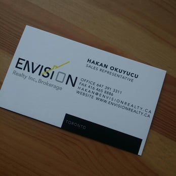 Hakan Okuyucu Envision Realty Real Estate Agents 323 Carlaw
