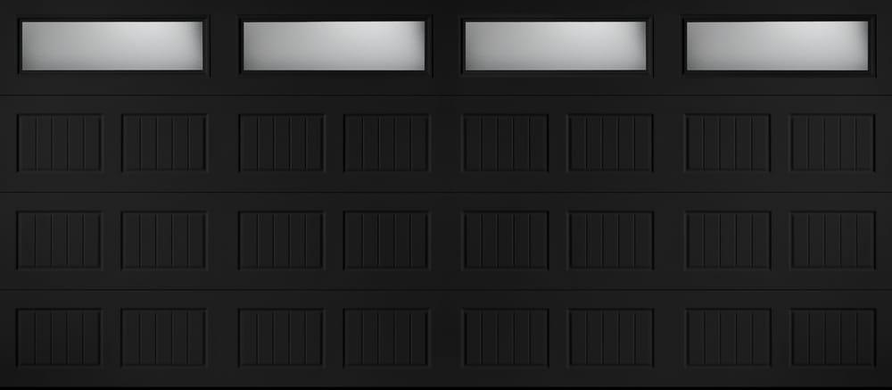 black garage door16x7 black garage door  Yelp