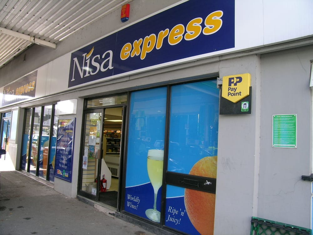 Nisa convenience store corner shops station garage