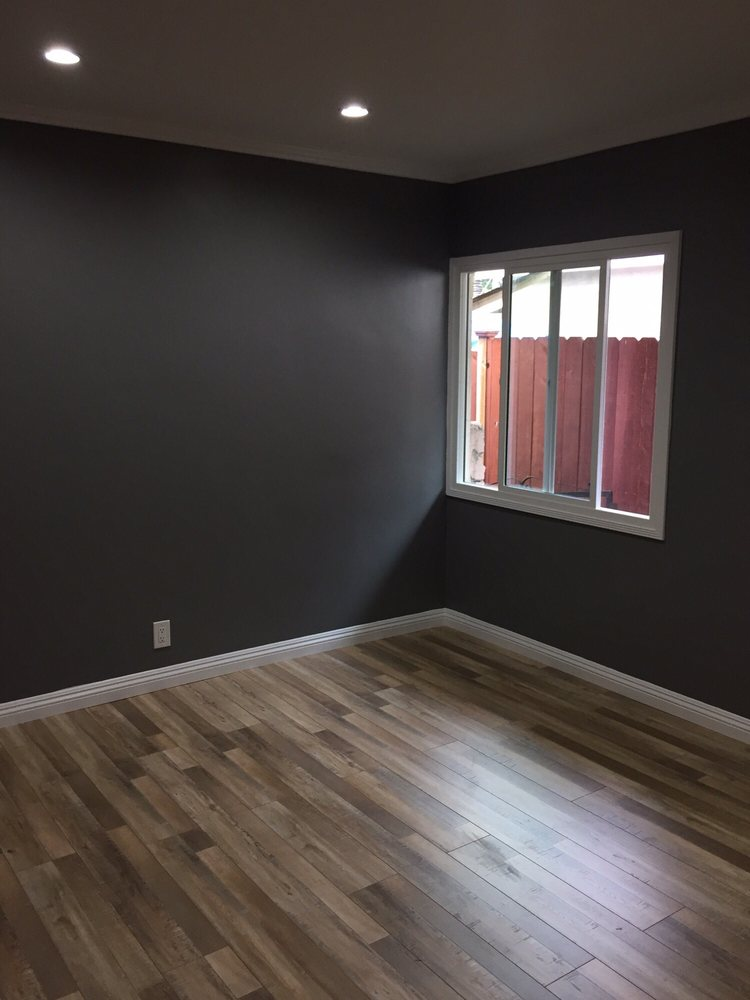 Boys Bedroom After Insulation Added New Laminate Flooring All