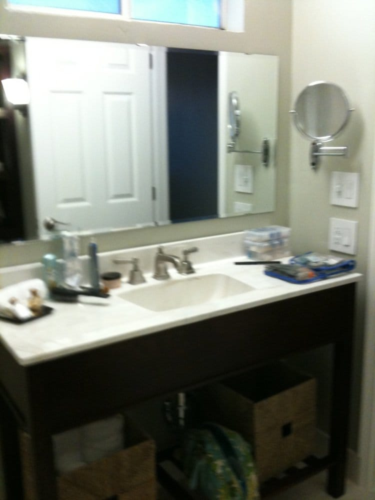 Bathroom Sink And Counter Top Magnifying Mirror Old