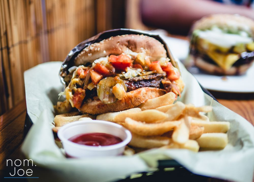 Food from Burger & Sushi