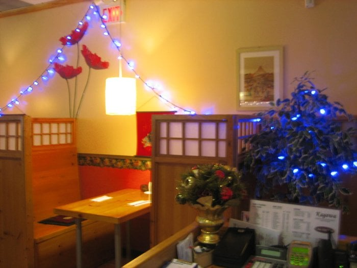 photo of kagawa japanese restaurant mississauga on canada with christmas decorations