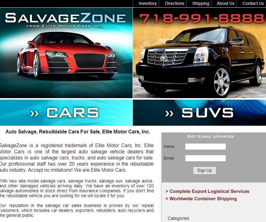 Salvage Zone - Car Dealers - 985 Bronx River Ave, Bronx, NY - Phone ...