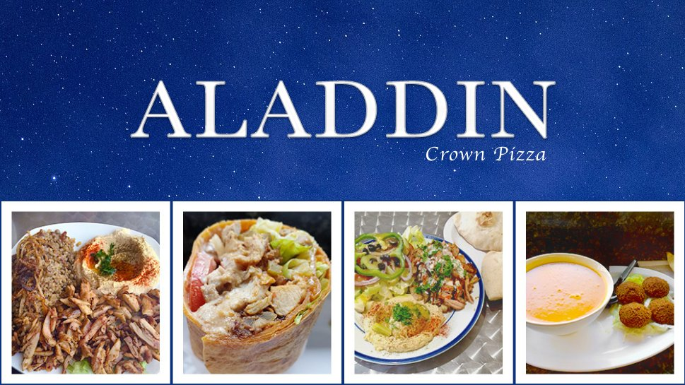 Aladdin crown pizza order food online 28 photos 79 for Aladdin middle eastern cuisine