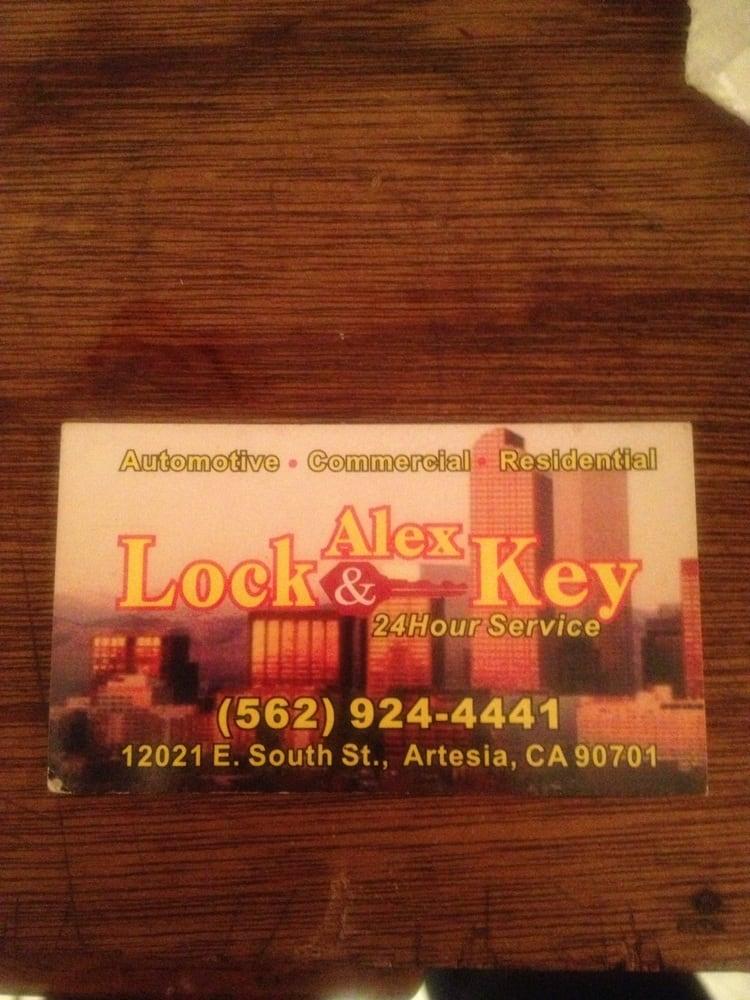 Alex Lock & Key: 12021 South St, Artesia, CA