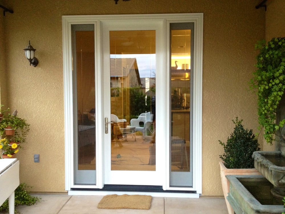 Milgard ultra french door with operable sidelights yelp for Single glass patio door
