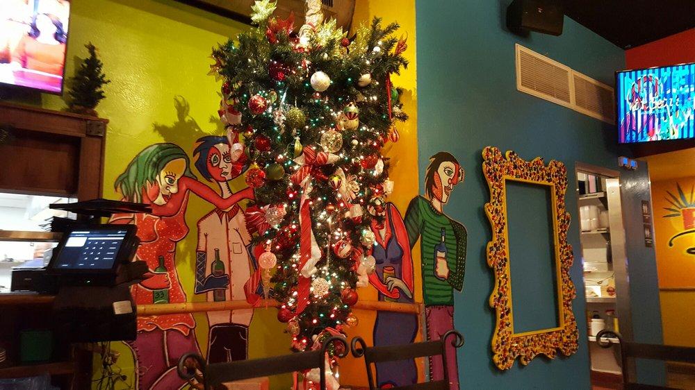 Upside-down Christmas tree at Baja Betty's!! - Yelp