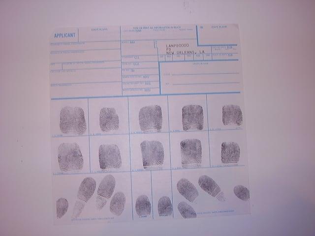 standard fbi fd258 fingerprint card state fbi and