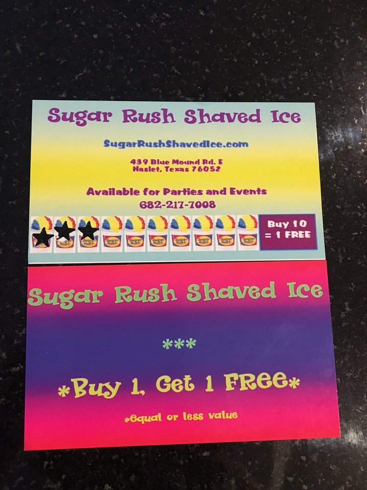 Sugar Rush Shaved Ice: 439 Blue Mound Rd E, Haslet, TX