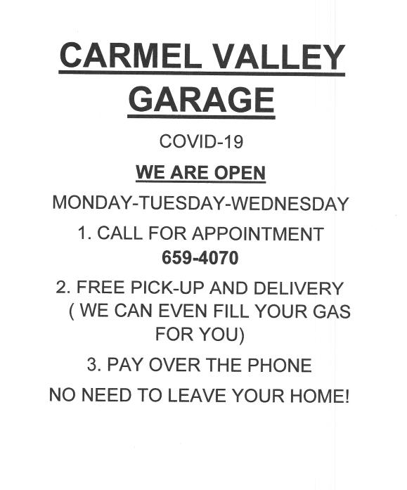Carmel Valley Garage: 14 E Carmel Valley Rd, Carmel Valley, CA