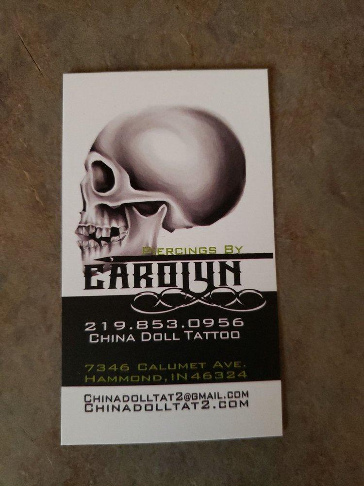 China Doll Tattoo & Piercing: 7346 Calumet Ave, Hammond, IN