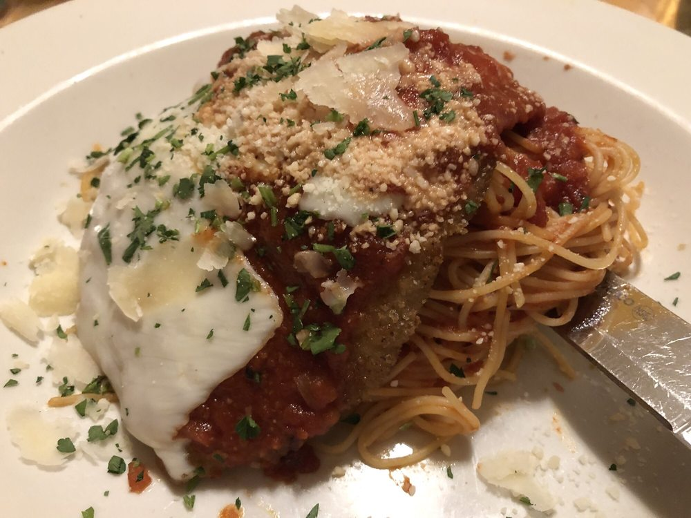 Veal Parmigiana With Capellini Pasta Side Yelp