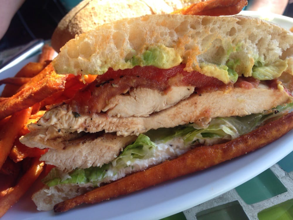 Grilled Chicken Sandwich With Avocado And Tomato Recipe — Dishmaps