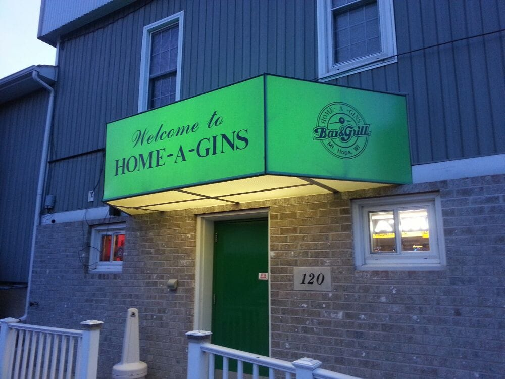 Home-A-Gins: 120 N Centre St, Mount Hope, WI