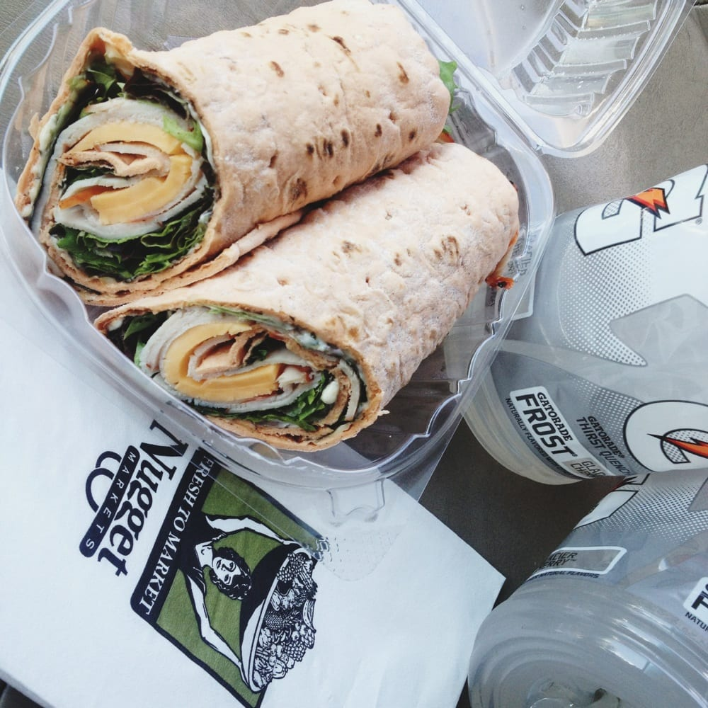 Cracked Pepper Turkey Wrap And Gatorade For A Quick Lunch