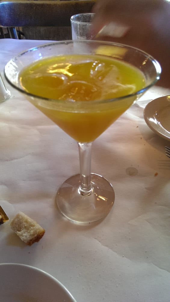 Mango martini i added ice cubes lol to water it down for Anthony s creative italian cuisine