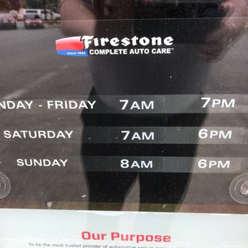Firestone Hours Sunday >> The Listed Hours Shown On The Yelp Page Are Incorrect These
