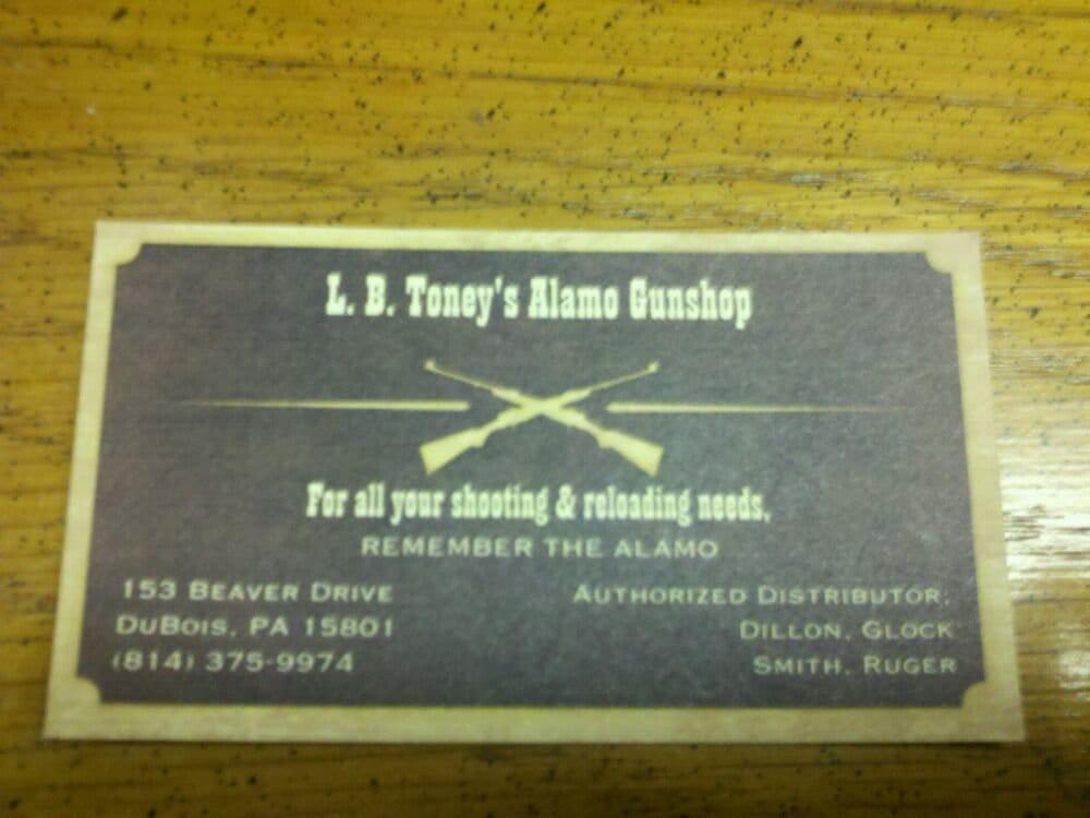 L.B. Toney Gunshop: 153 Beaver Dr, Du Bois, PA