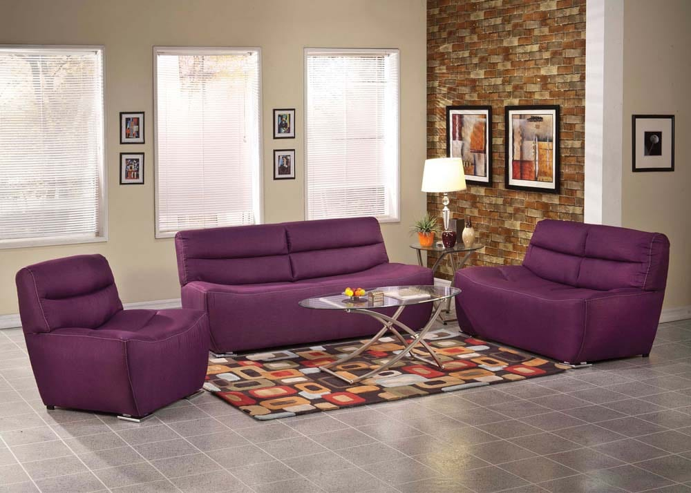Photo Of Comfy Furniture   Irving, TX, United States. Purple Sofa And Love