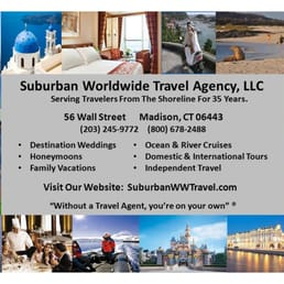 Suburban Worldwide Travel - Travel Services - 56 Wall St, Madison ...