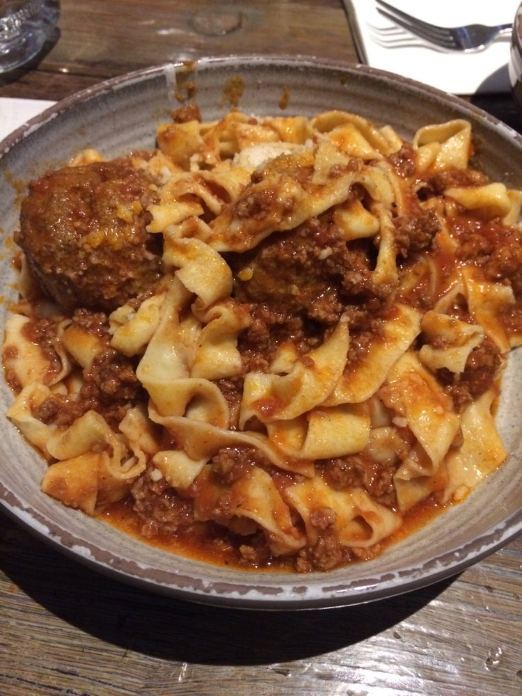Papperdelle with ragu and meatballs *drool emoji* - Yelp