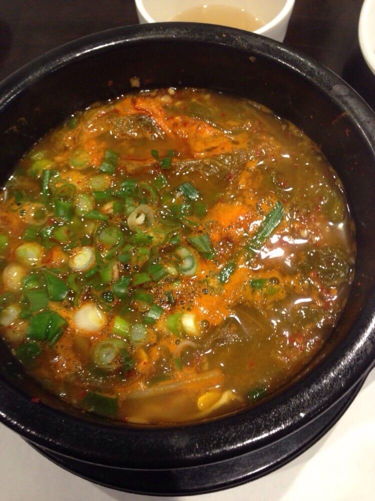 ... Park, NJ, United States. Haejangguk - beef broth oxtail blood soup