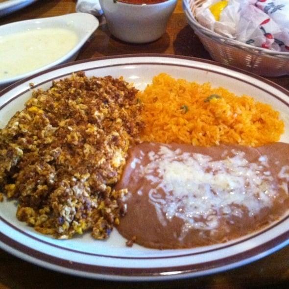 Huevos con Chorizo con Arroz y Frijoles - Yelp