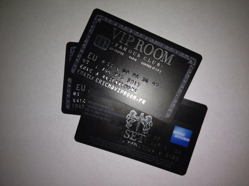 Plastic Embossed credit card style business cards - Yelp