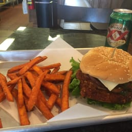 Pecan Chicken Sandwich + Sweet Potato Fries, OH, and did I mention it ...