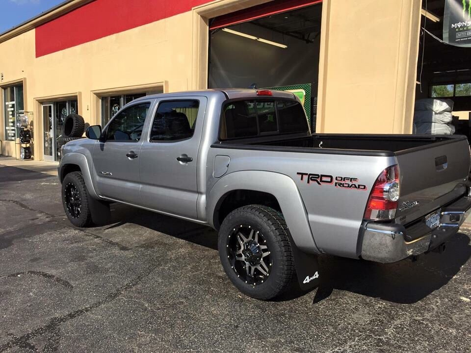 toyota tacoma with 18 inch tis truck wheels and nitto terra grappler g2 tires yelp. Black Bedroom Furniture Sets. Home Design Ideas