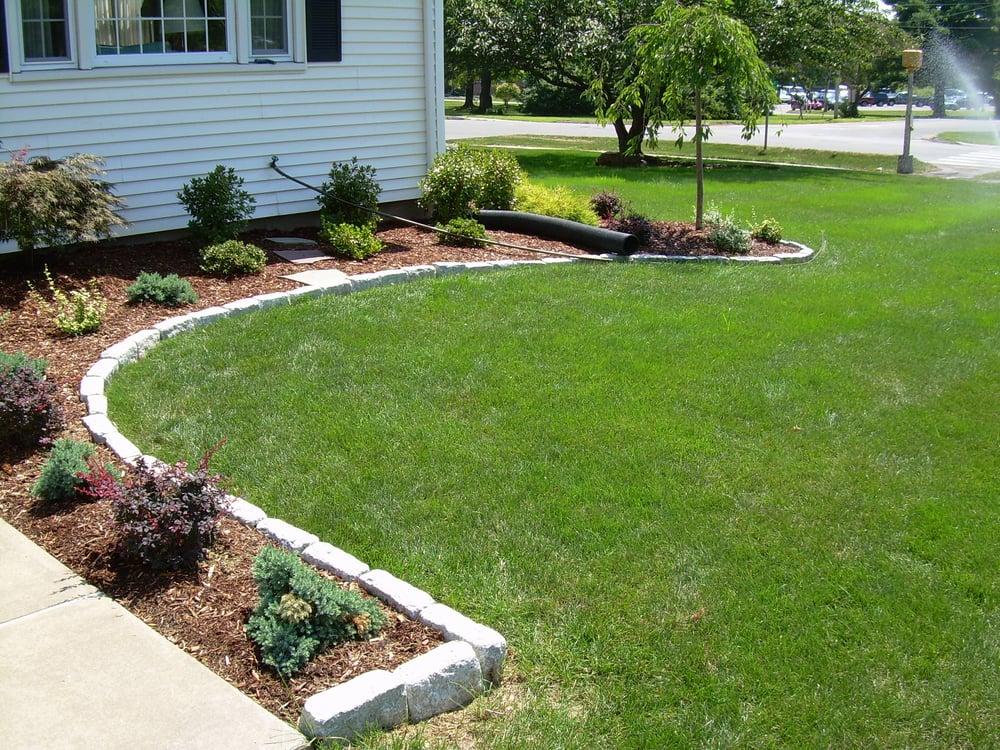 Cobblestone edging and planting installation  - Yelp