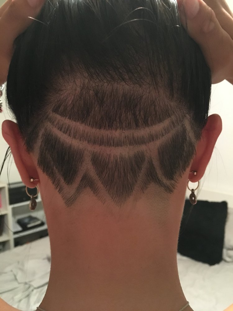 Undercut And Design From Derrick Correcting An Uneven Top Line From
