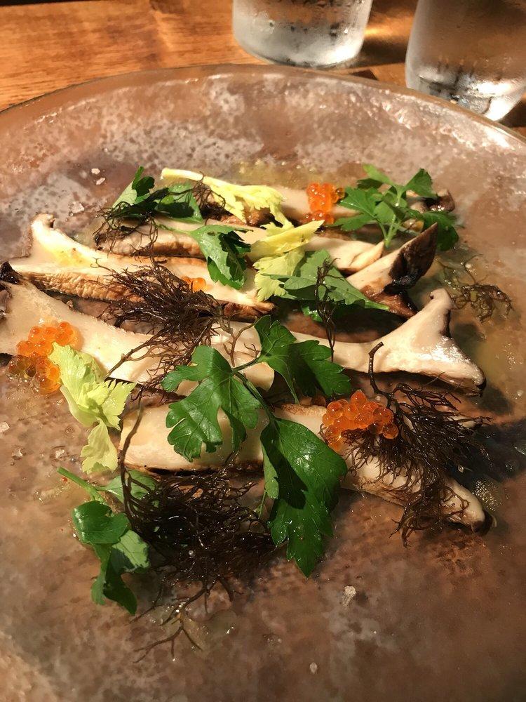 Special, Alii Mushroom Carpaccio  Maldon smoked sea salt