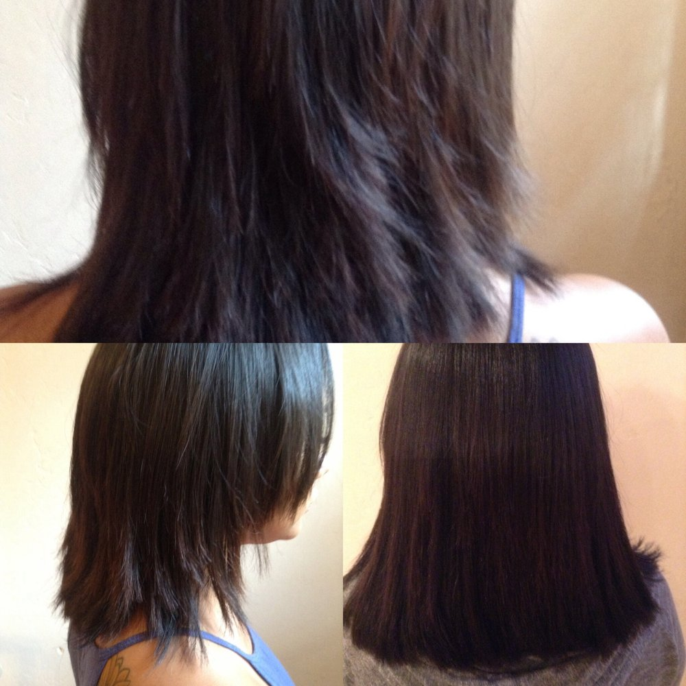 Before And After Hair Extensions Fix Bad Haircut J3 Hair