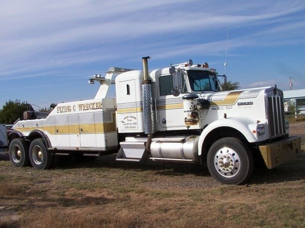 "Flying ""C"" Wrecker Service: State Rd 3 & I 40, Santa Rosa, NM"