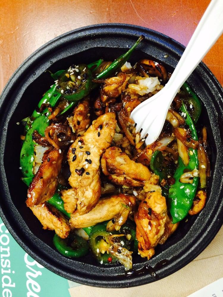 Yummy Chicken Teriyaki Asian Bowl From The Asian Bar Yelp