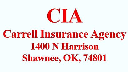Carrell Insurance Agency: 1400 N Harrison Ave, Shawnee, OK