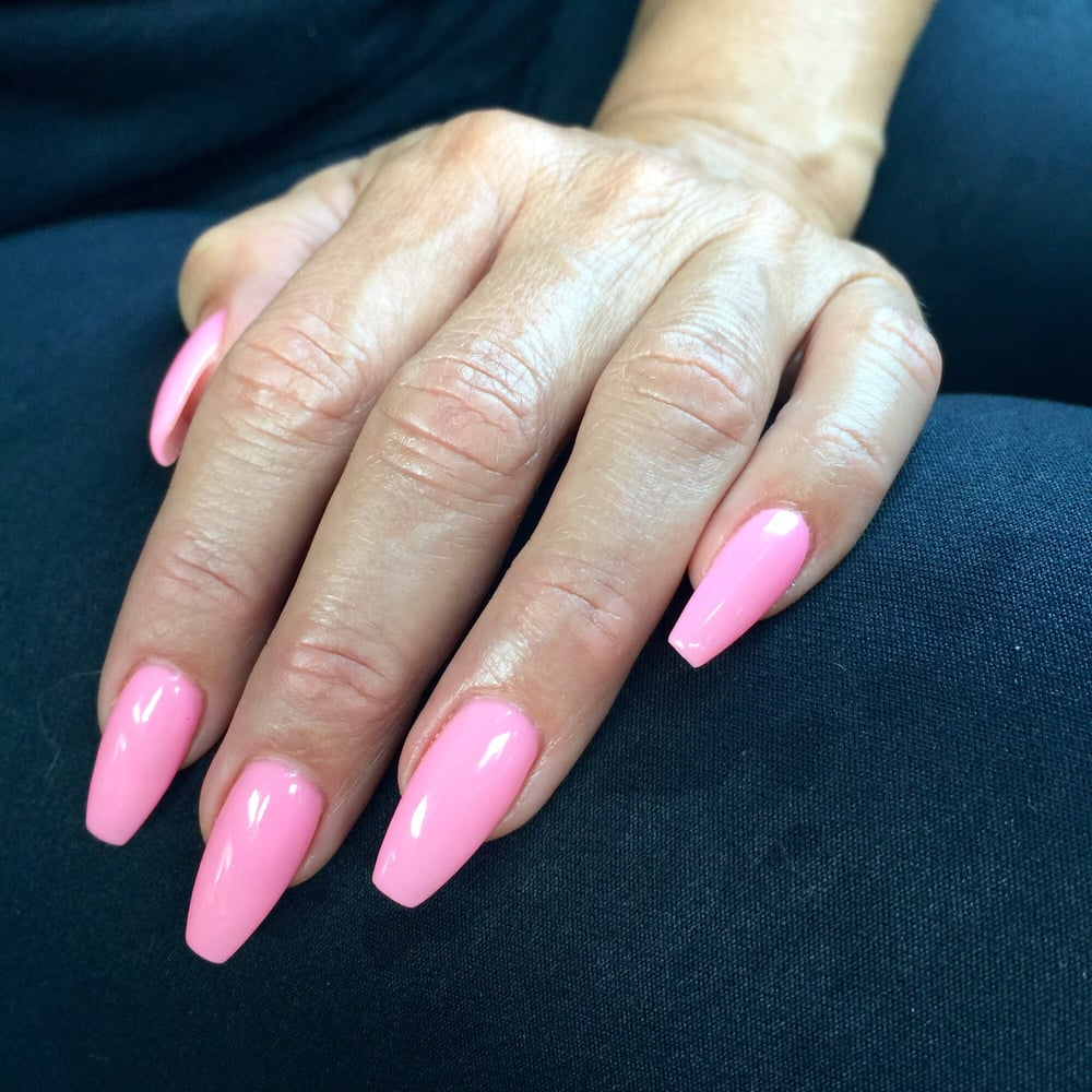 Obsessed with this gel color - DND 497 Baby Pink, nails by Brian! - Yelp