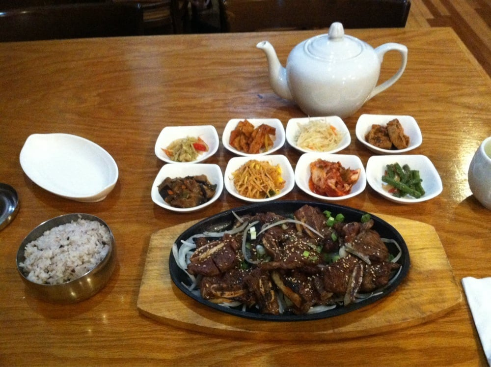 Pretty legit korean food pictured here is 1 order of for Asiana korean cuisine restaurant racine