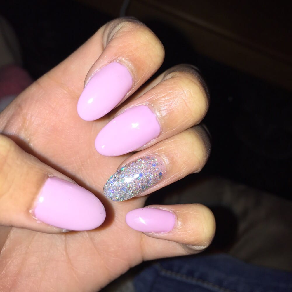 light pink nails - 1000×1000